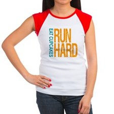 Run Hard Eat Cupcakes T-Shirt