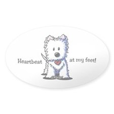 Westie Heartbeat Decal