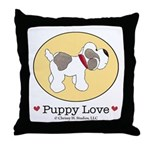 Puppy Love Throw Pillow 18x18 inches