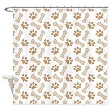 Dog Lover Paw Print Pet Shower Curtain
