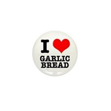 I Heart (Love) Garlic Bread Mini Button (100 pack)