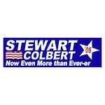 Ever-er Stewart-Colbert Bumper Sticker