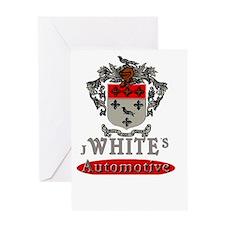 J. White's Logo Greeting Card