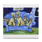 SOFT COATED WHEATEN TERRIER  FAMILY Tile Coaster