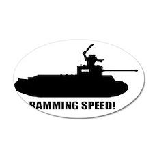 Ramming Speed 35x21 Oval Wall Decal