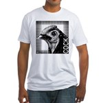 Graphic Cock Fitted T-Shirt
