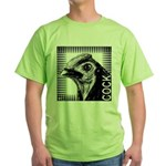 Graphic Cock Green T-Shirt