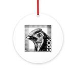 Graphic Cock Ornament (Round)