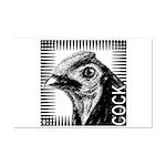 Graphic Cock Mini Poster Print