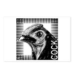 Graphic Cock Postcards (Package of 8)