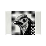 Graphic Cock Rectangle Magnet