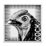 Graphic Cock Tile Coaster