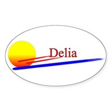 Delia Oval Decal