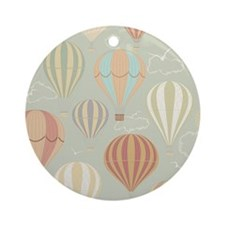 Vintage Hot Air Balloons Round Ornament