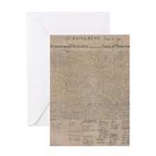 US declaration independence Greeting Cards