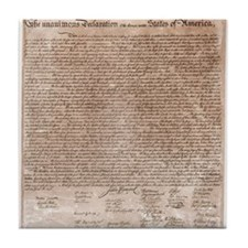 US declaration independence Tile Coaster