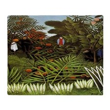 Exotic Landscape Throw Blanket