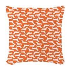 Cute Dachshund Pattern Woven Throw Pillow