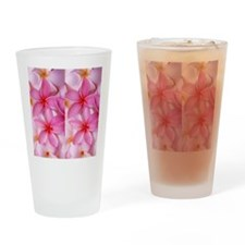 Pink Tropical Plumeria Drinking Glass