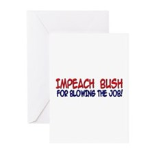 IMPEACH for blowing the job 3 Greeting Cards (Pack