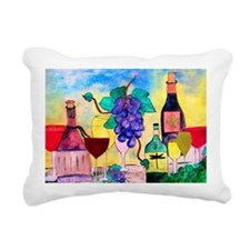 Grape Escape Wine Art Rectangular Canvas Pillow