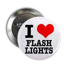 "I Heart (Love) Flashlights 2.25"" Button (10 pack)"