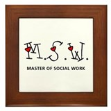 MSW Hearts (Design 2) Framed Tile