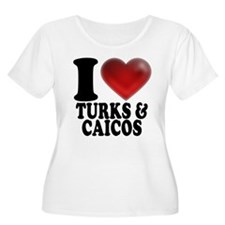 I Heart Turks and Caicos Plus Size T-Shirt