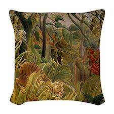 Jungle Storm Woven Throw Pillow