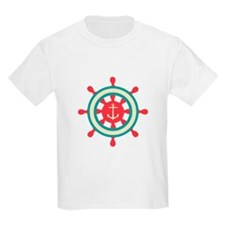 Anchor Ship Wheel T-Shirt