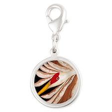 Love Sandhill Cranes Love Bird Silver Round Charm
