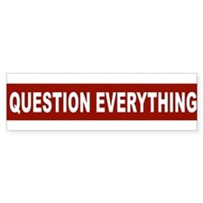 question_everything_arial_red Bumper Bumper Sticker