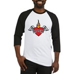 Mother's Day : Mom heart Baseball Jersey