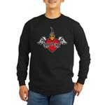 Mother's Day : Mom heart Long Sleeve Dark T-Shirt