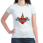Mother's Day : Mom heart Jr. Ringer T-Shirt