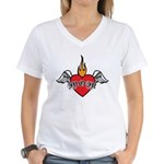 Mother's Day : Mom heart Women's V-Neck T-Shirt