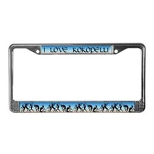 I Love Kokopelli License Plate Frame
