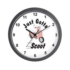 Just Gotta Scoot Pink Buddy Wall Clock