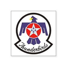 "Thunderbirds Military Square Sticker 3"" x 3"""
