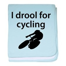 I Drool For Cycling baby blanket