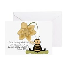 Bumble Bee with Bible Quote Greeting Card