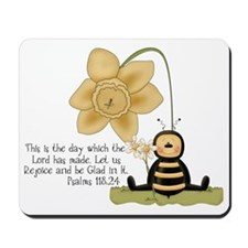 Bumble Bee with Bible Quote Mousepad
