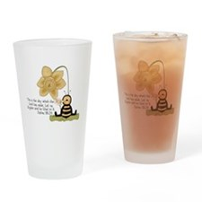 Bumble Bee with Bible Quote Drinking Glass