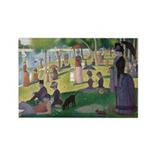 Island of La Grande Jatte Rectangle Magnet