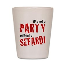 Sefardi Party by Rotem Gear Shot Glass