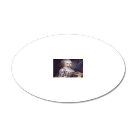 Marie Antoinette 20x12 Oval Wall Decal