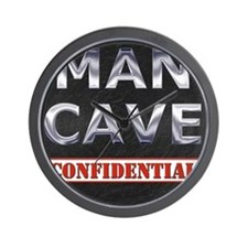 Man Cave Confidential Wall Clock