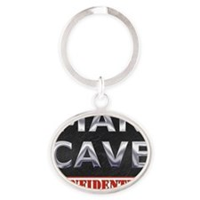 Man Cave Confidential Oval Keychain
