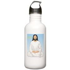 Meditative Jesus Chist Water Bottle