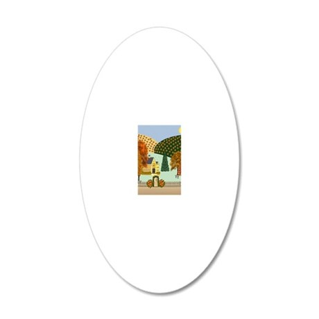 Pumpkin Hollow 20x12 Oval Wall Decal
